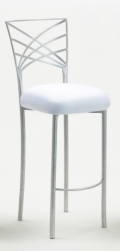 Rental store for CHAMELEON FANFARE SILVER BARSTOOL in Raleigh NC