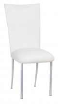 Rental store for CHAMELEON CHAIR WHITE LEATHERETTE TOPPER in Raleigh NC